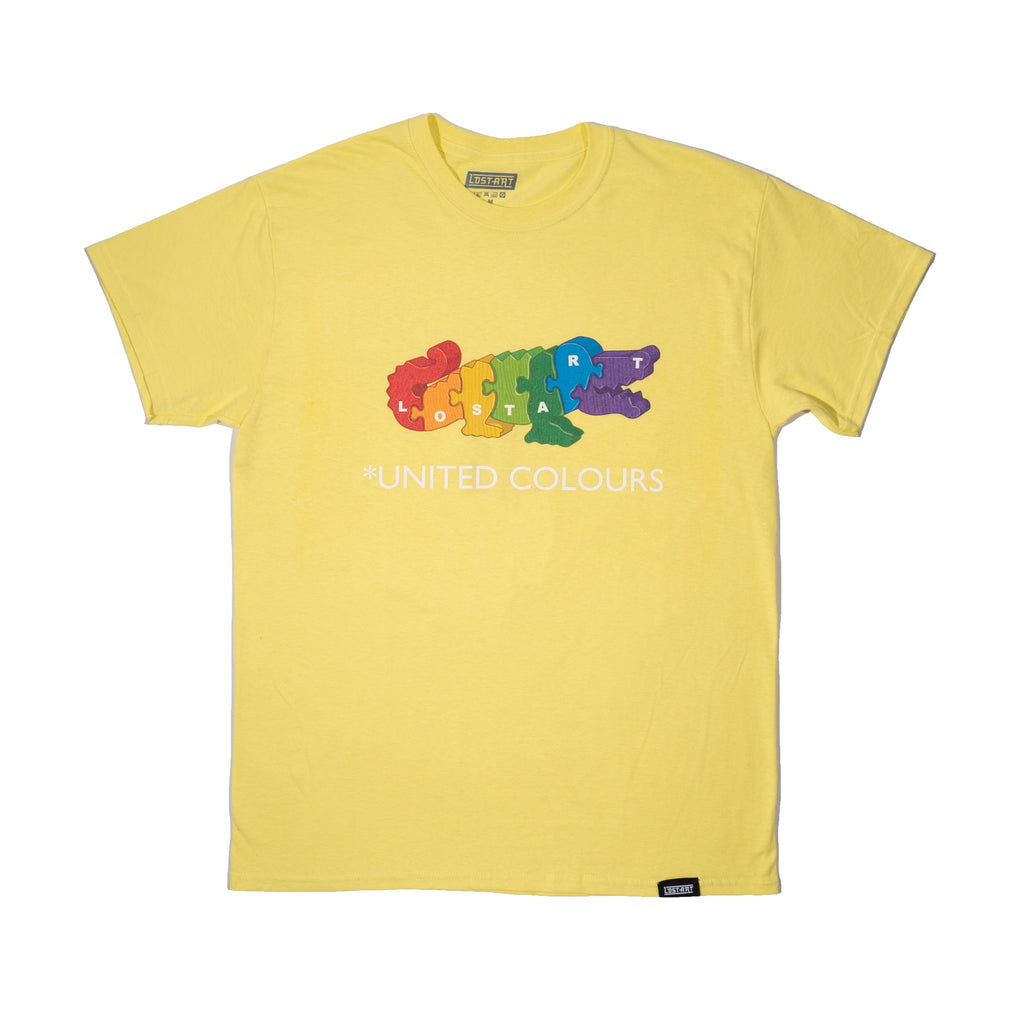 Lost Art -</br>United Colours Tee S/S </br> Cornsilk