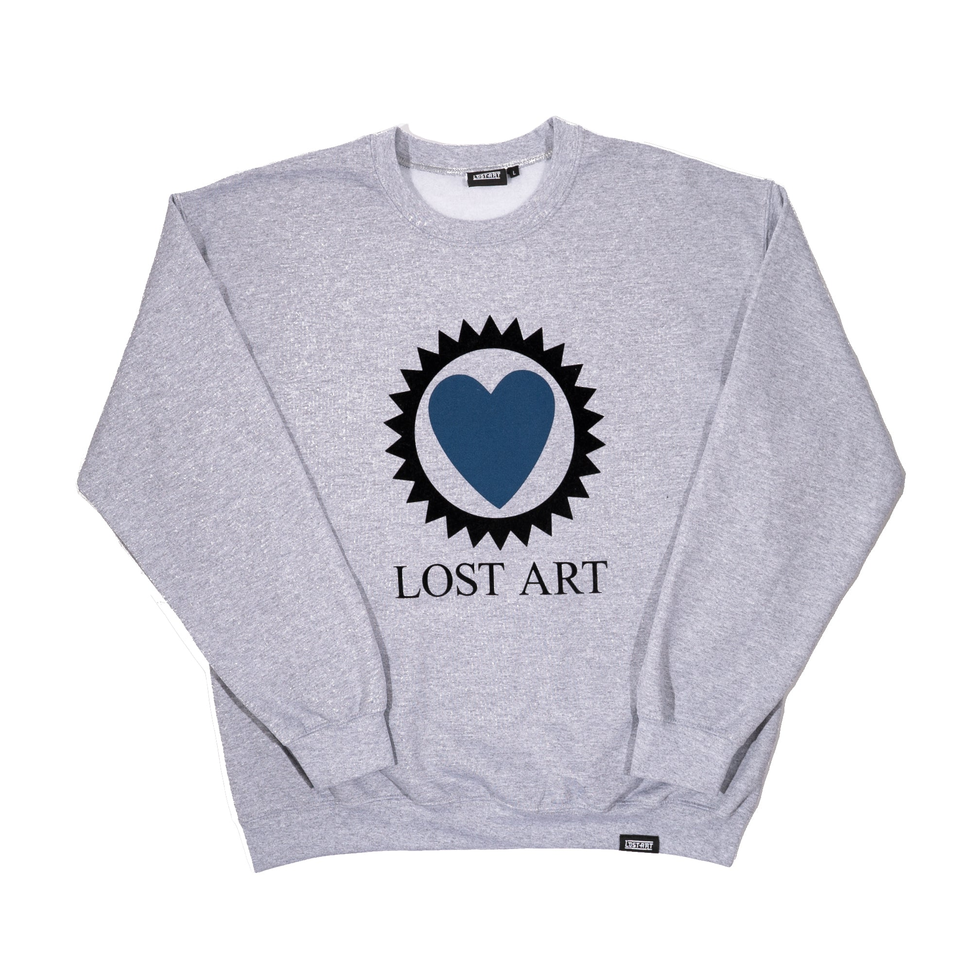 Lost Art -</br>Love Is Blind Crew Neck Sweatshirt </br> Sport Grey
