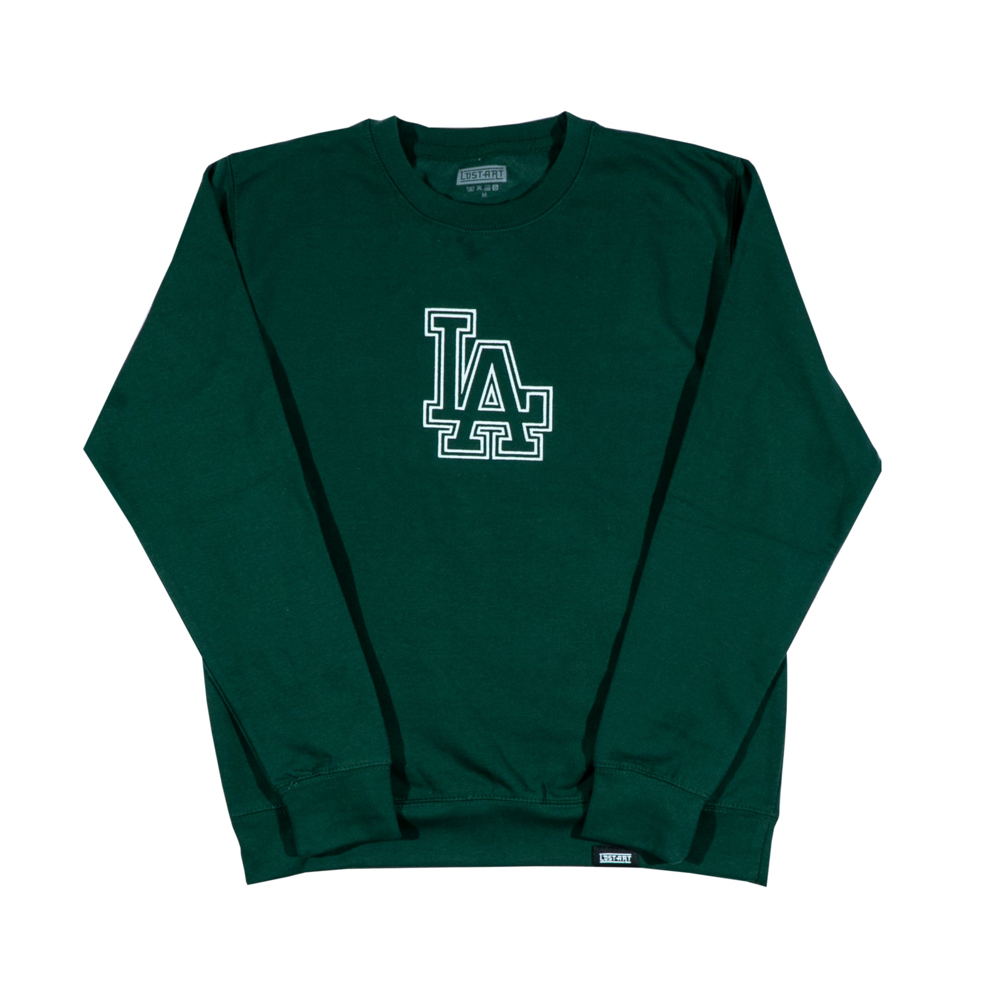 LA Crew Neck Sweatshirt </br> Bottle Green