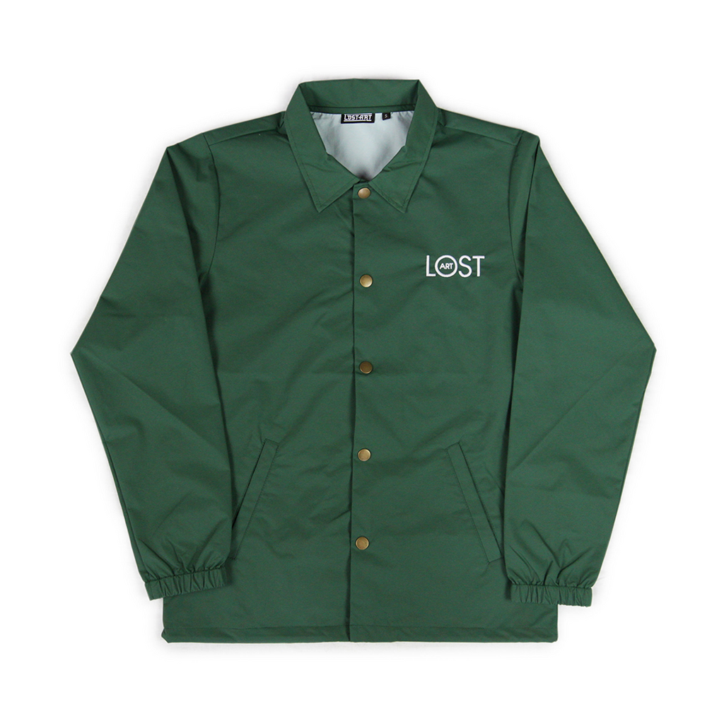 Fineliner Coaches Jacket </br>Forest Green