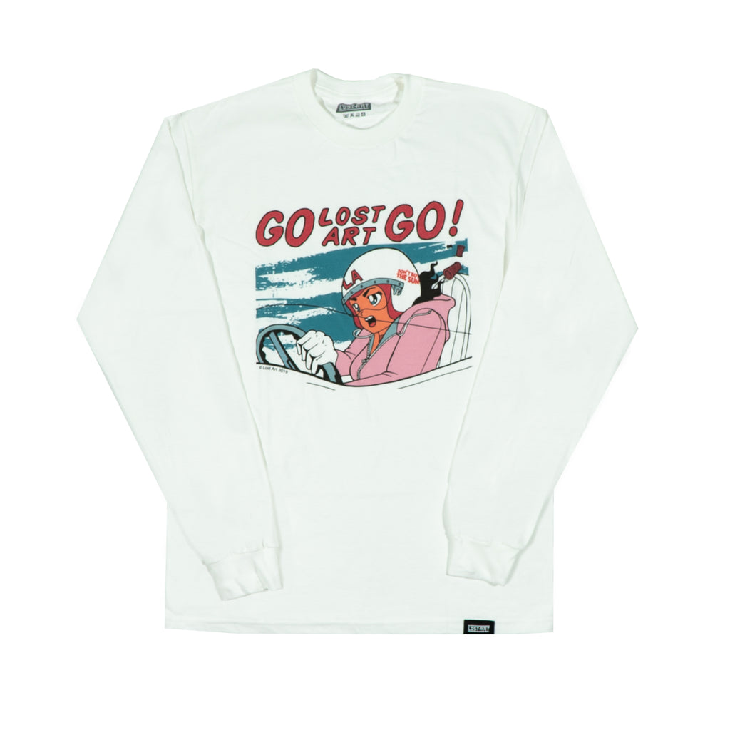 Lost Art -</br>GO Lost Art GO L/S Tee </br> White