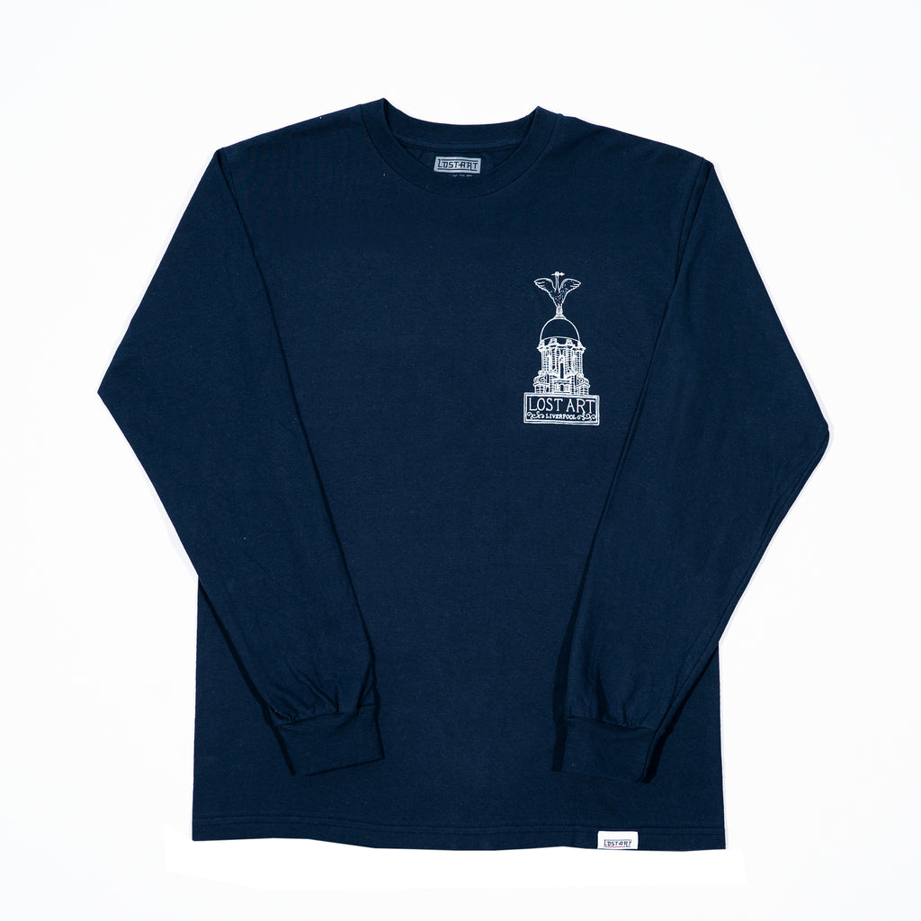 Lost Art -</br>Liver Tee L/S </br>Navy