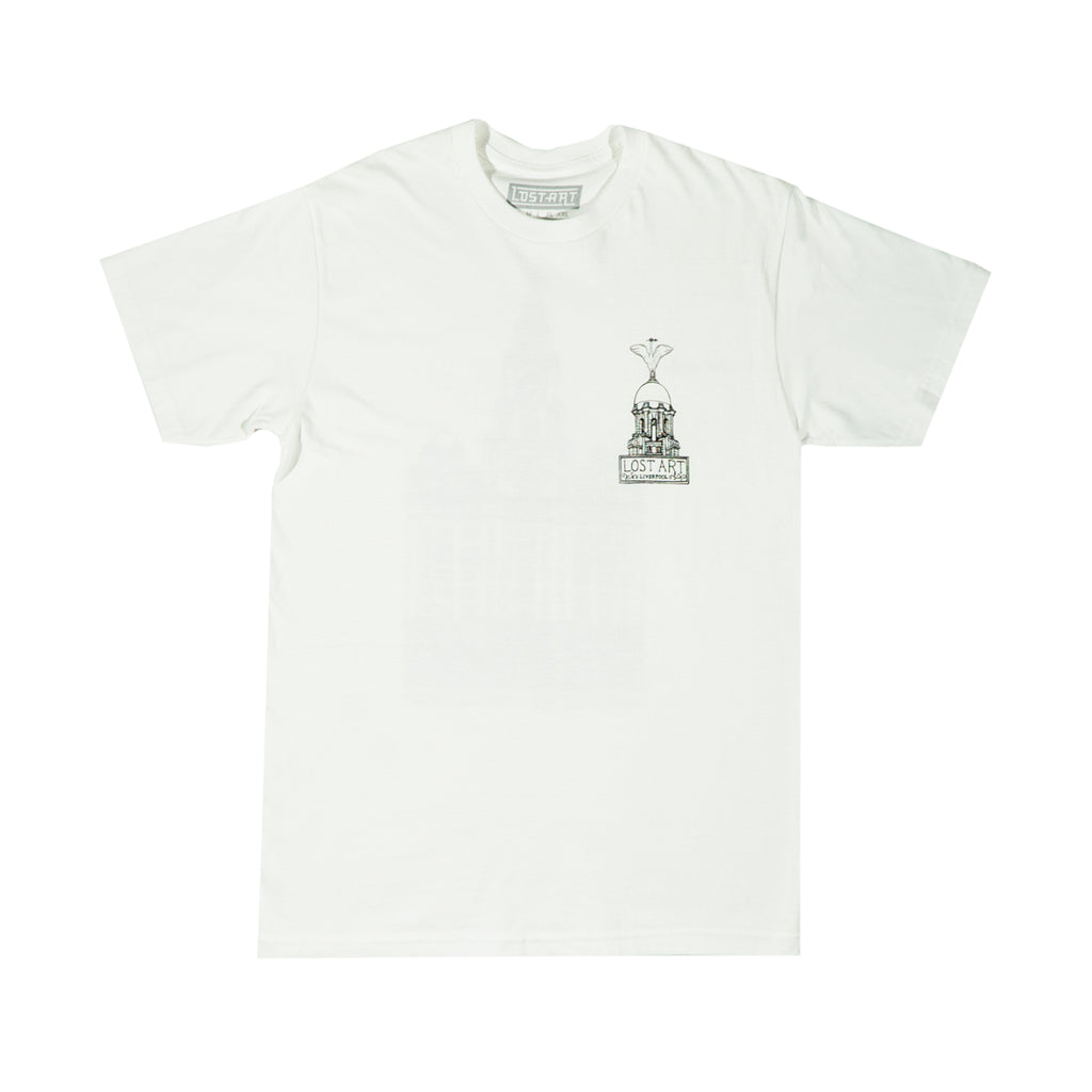 Lost Art -</br>Liver Tee </br> White