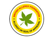Sello Allergy British Foundation aprovación