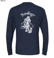 """The Reaper"" Long-sleeve T-shirt Navy Heather"