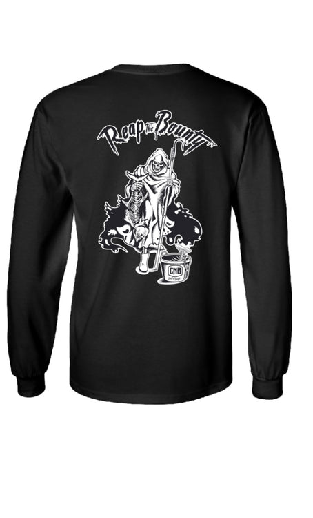 """The Reaper"" Long-sleeve T-shirt Black"