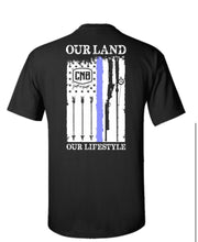 Our Land Thin Blue-line T-shirt