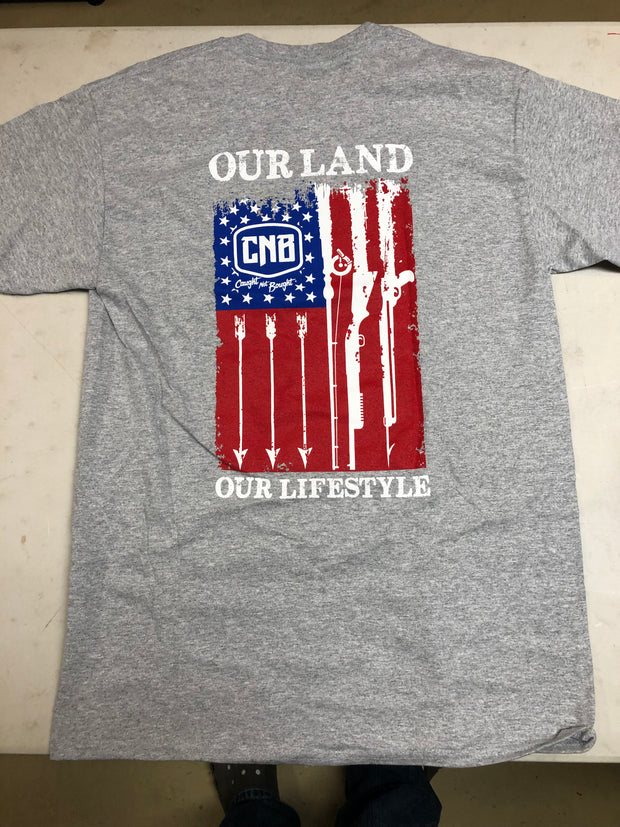 "Grey CNB ""Our Land"" - T-Shirt"