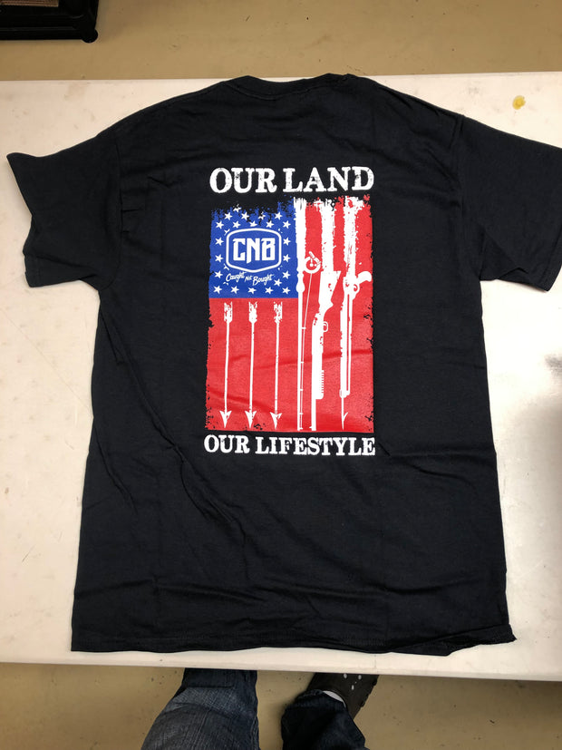 "Black CNB ""Our Land"" t-shirt"
