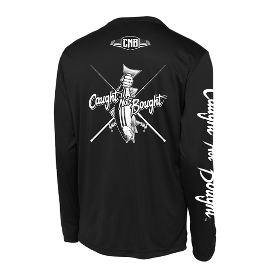 Caught Not Bought Striper Fishing Long Sleeve T-Shirt