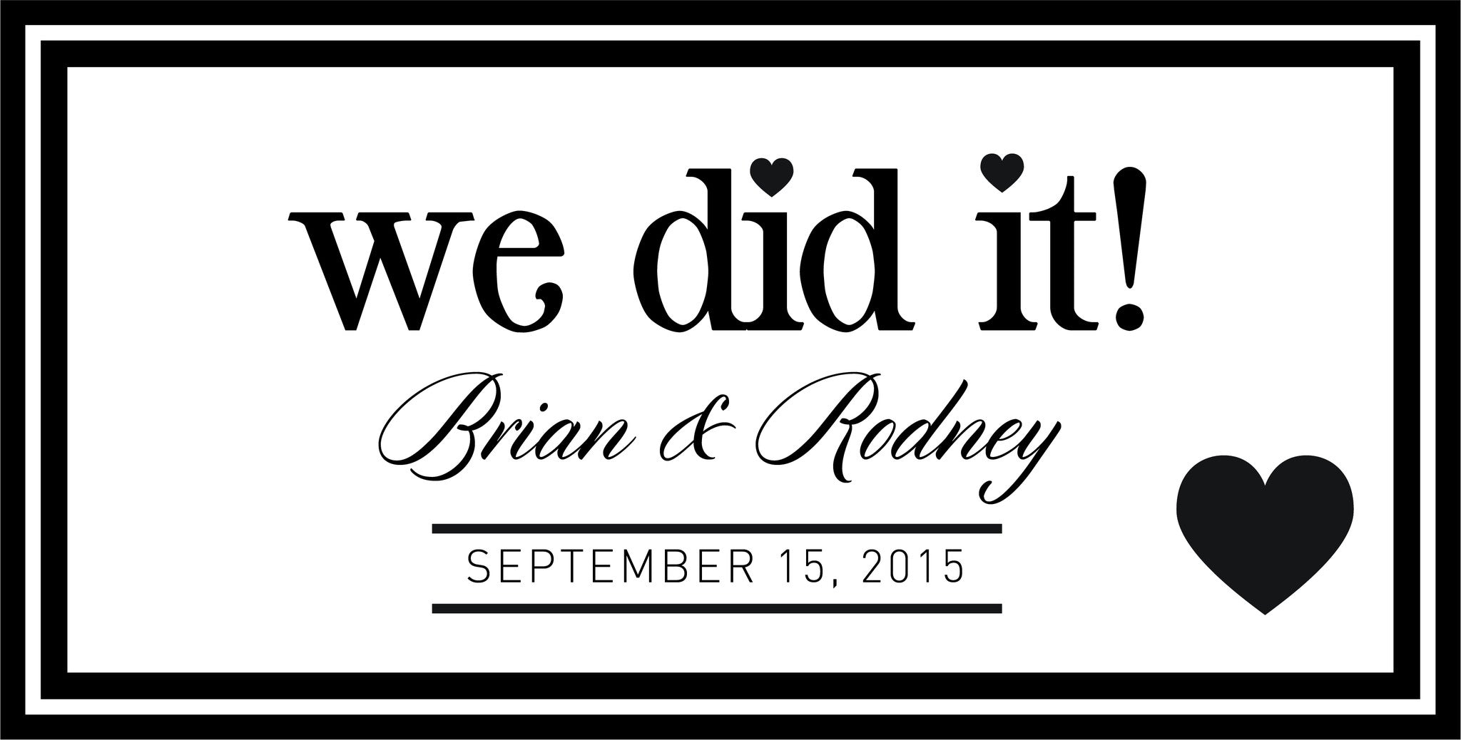 The Brian Personalized Wedding Banner – JustMarriedBanners