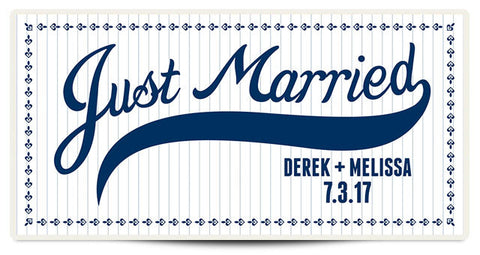 The Derek Personalized Wedding Banner
