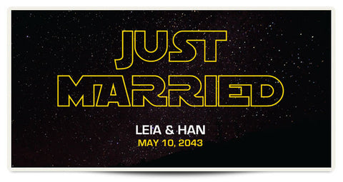 The Leia Personalized Wedding Banner