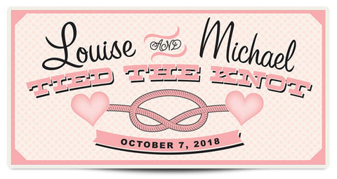 The Louise Personalized Wedding Banner