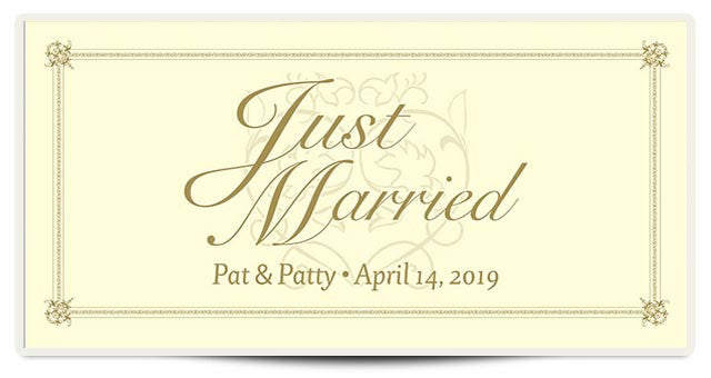 The Patty Just Married Banner