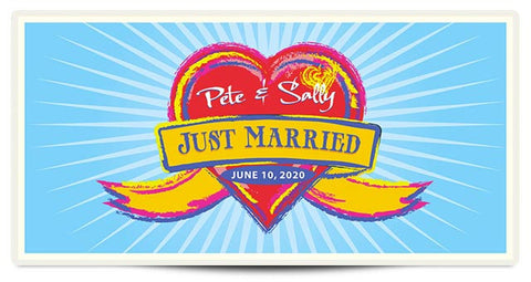 The Pete Personalized Wedding Banner