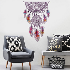 Boho Double Dreamcatcher Wall Decal
