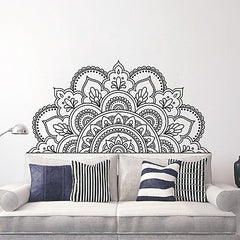 Half Mandala Flower Furniture Border Wall Art Decal