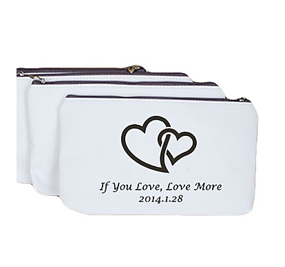 Personalize Love Quote Heart Change Purse