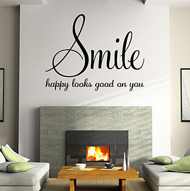 Smile Happy Looks Good On You Wall Decal Sticker