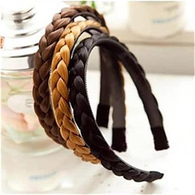 Cute Black, Brunette and Blonde Braided Hair Headbands