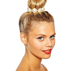 Cute Imitation Pearl Hair Tie For Messy Buns and Updos