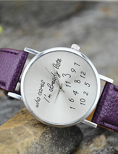 Fashionably Late Leather Fashion Watch