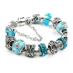 Blue Friendship Charm Bracelet