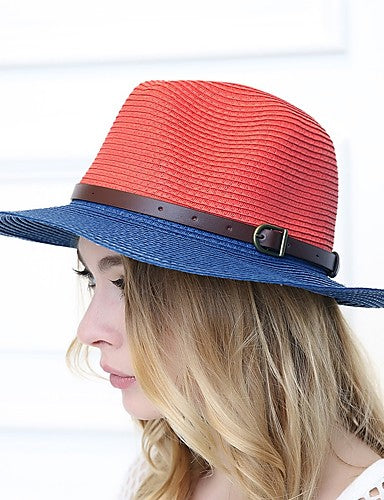 Women's Casual Two Tone Straw Hat
