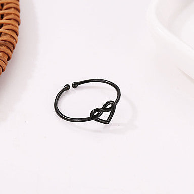 Simple Infinity Heart Ring Cuff