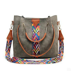 Casual Rustic Southwestern Style Tote and Crossbody Faux Leather Bag For the Down To Earth Cowgirl and Rancher
