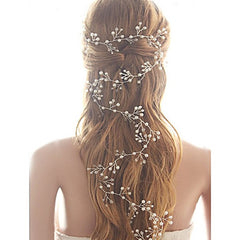 Imitation Pearl Baby's Breath Bridal Hair Vine