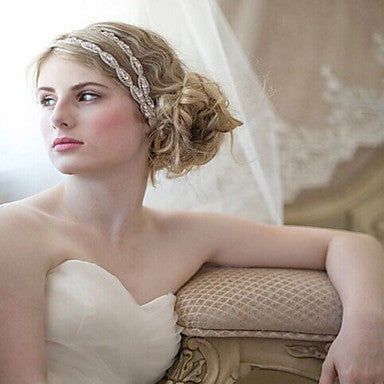 Thin Satin Wrap Bridal Headband For Messy Updos