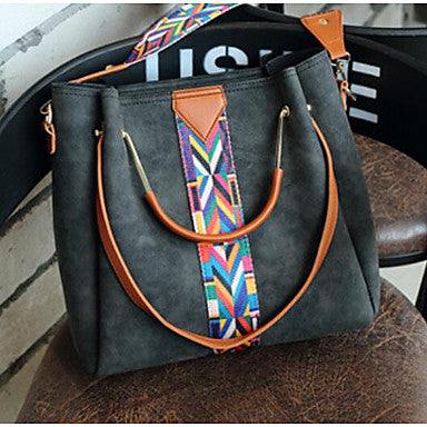 Women's Black PU Crossbody and Tote Bag For Ladies Who Love Southwestern Fashion