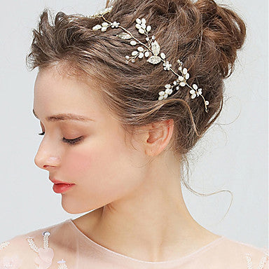 Delicate and Simple Bridal Floral Hair Vine Head Wreath