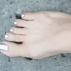 Cute Boho Style Infinity Toe Ring