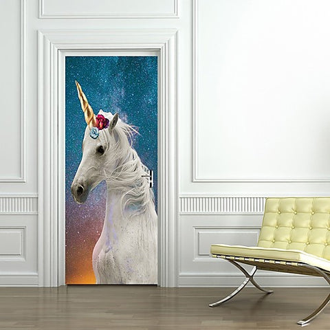 Unicorn Door Sticker