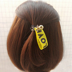 Love Ribbon Hair Tie With Charms