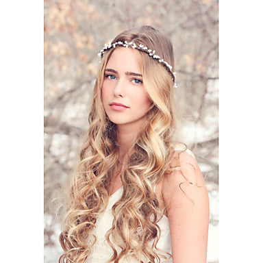Simple White Minimalistic Boho Style Headband For Casual or Formal Wear