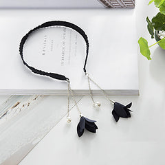Black Tassel Flower Headband
