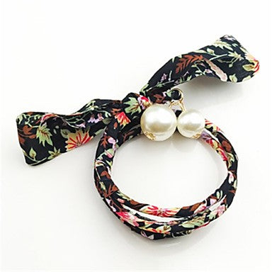 Cute Bowknot Wrap Around Floral Headband