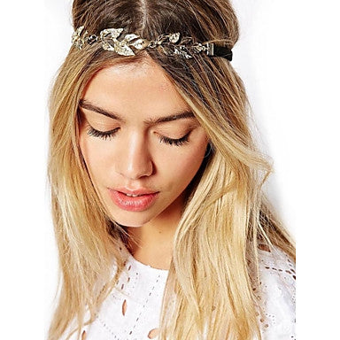 Women's Gold Colored Wreath Style Headband
