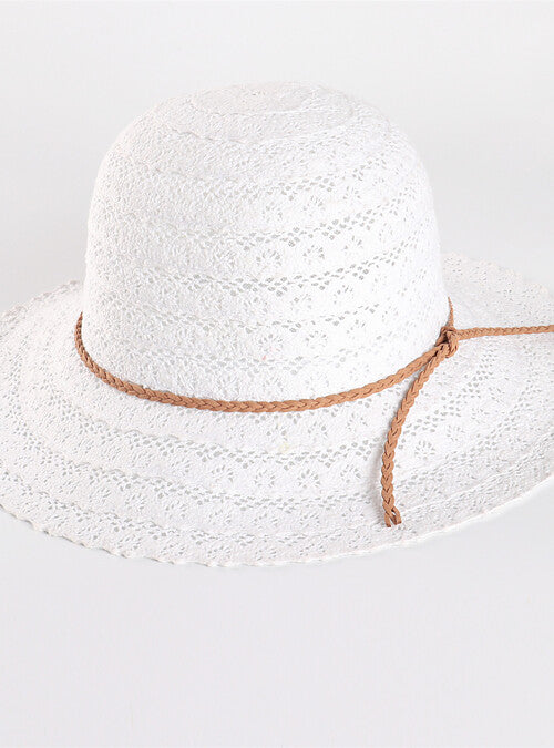 Summery Wide Brimmed Polyester Hat