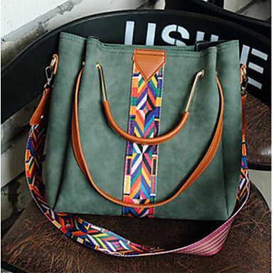 Women's Dark Green Southwestern Style Crossbody and Tote Bag For The Down To Earth Cowgirl and Rancher