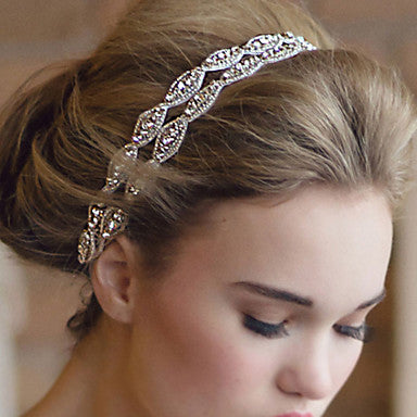 Thin White Satin Wrap Bridal Headband For Messy Updos