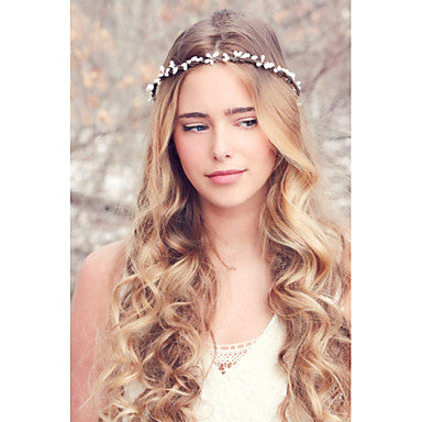 Simple White Boho Style Headband