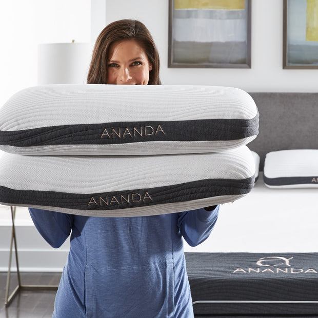 Pearl and Gel Infused Memory Foam Pillow - Ananda