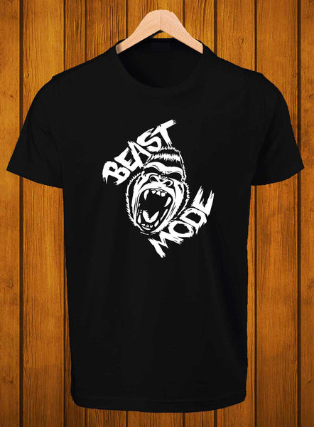 T-Shirt Swag Beast mode Graphic Printed black T-Shirt