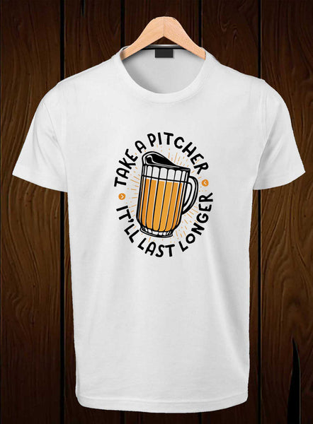 T-Shirt Swag Take a pitcher Graphic Printed T-Shirt