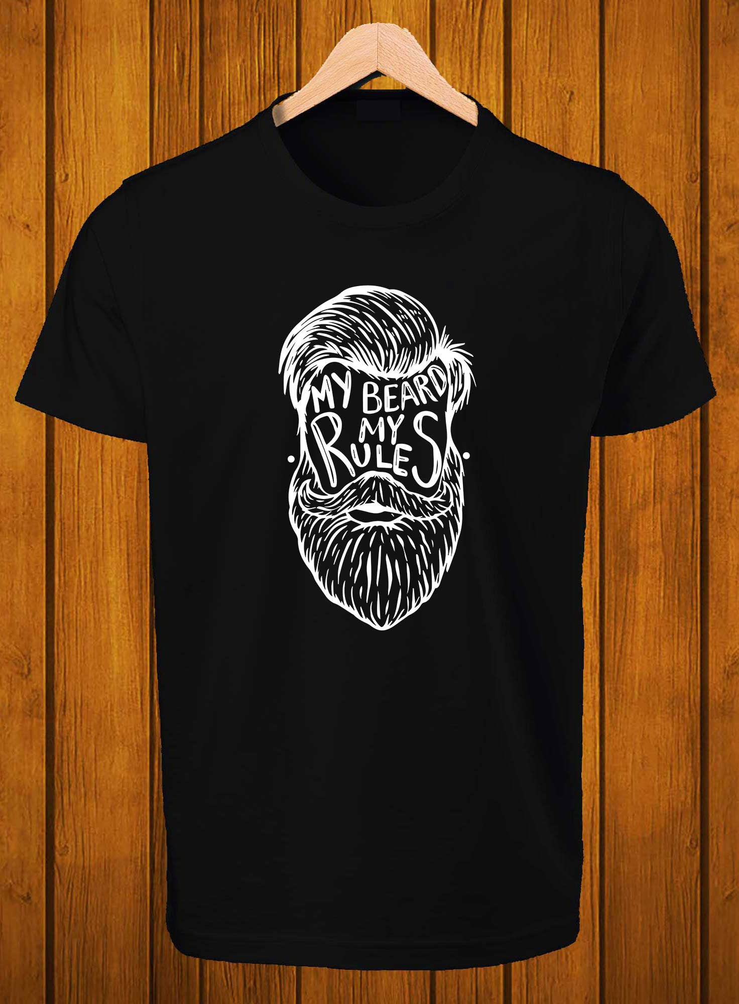T-Shirt Swag My Beard my rules Printed Graphic T-Shirt